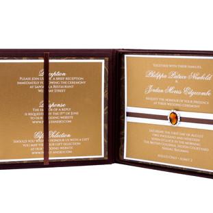 Invitation in silk box