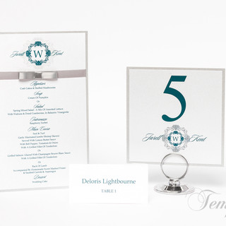 Maching Table Card with Menu Card