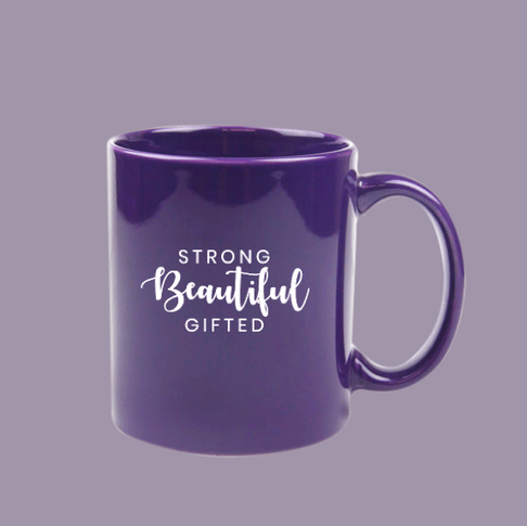 Strong, Beautiful, Gifted Purple Mug