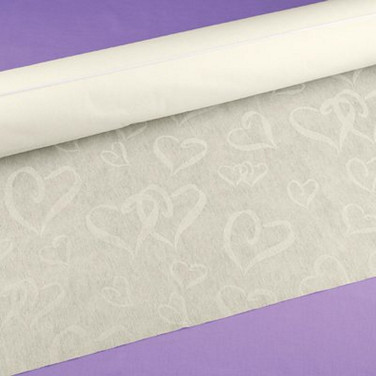 Linked Hearts - Aisle Runner - Ivory