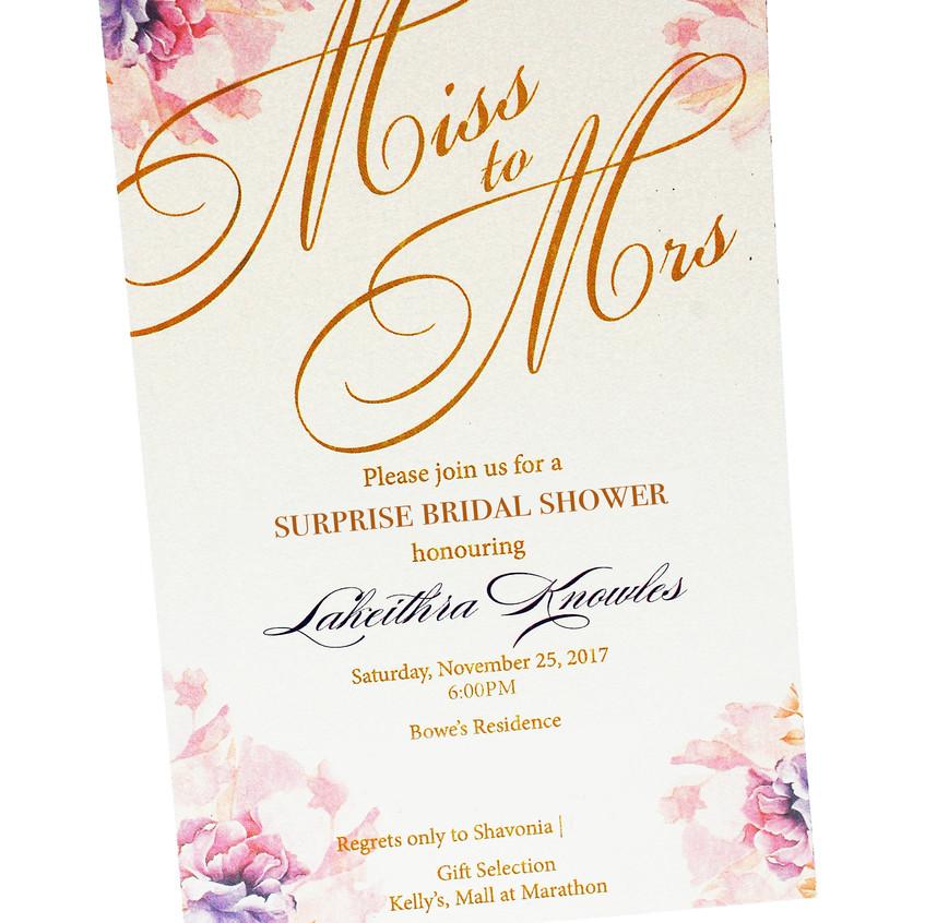 The Wedding Shower Invitation
