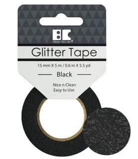 Black Glitter Tape