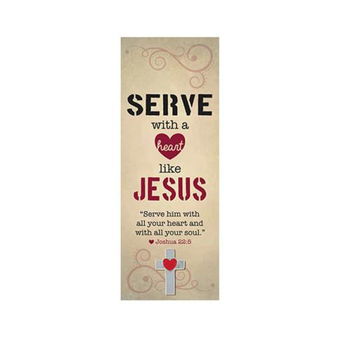 Serve Like Jesus Bookmarks w/Pin