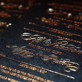 Gold foiling on Black