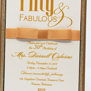 4 Tier Invitation with Bow