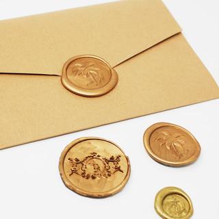 Rustic Envelope with Monogram Assortment