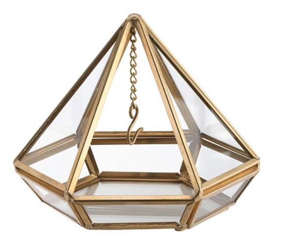 Gold Hanging Prism Ring Holder