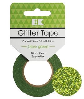 Olive Green Glitter Tape