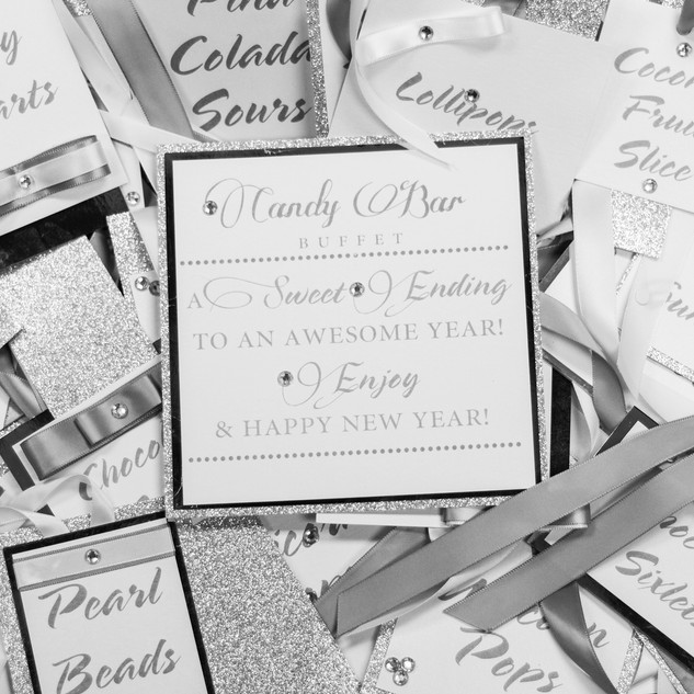 Silver Candy Bar Tags