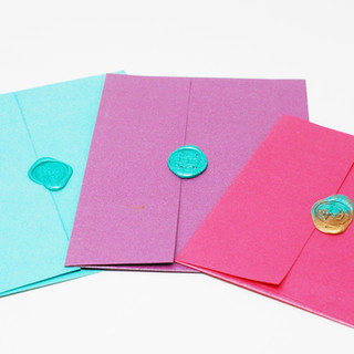 Multiple Coloured Envelopes with Wax Seal