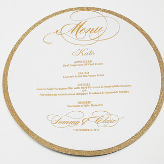 2 Tier Circle Menu Personalized with Guest Name
