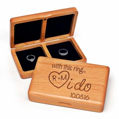 I Do - Wooden Ring Box