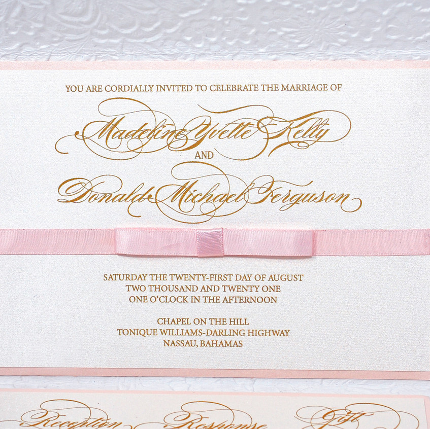 Lovely Two Tier Invitation with Bow