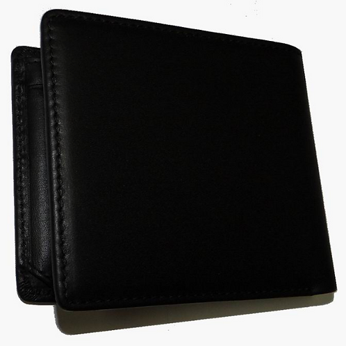 Genuine Leather Men's Bi-fold Wallet with 2 Window ID Holder