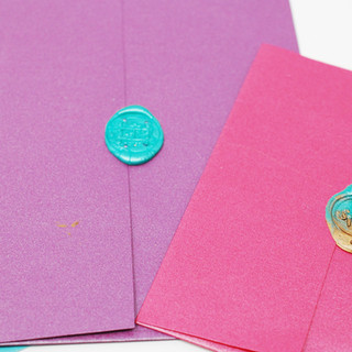 Multiple Coloured Envelopes and Wax Seal