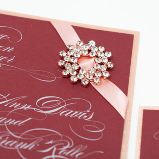 Rose Gold Snowflake Buckle