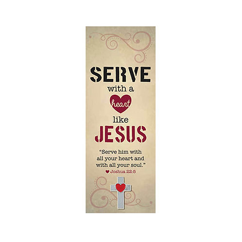 Serve with A Heart Like Jesus Bookmarks