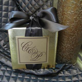 Gold Foil Linen Boxes