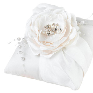 Vintage White Ring Pillow