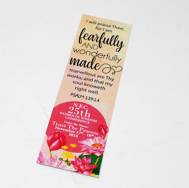 Fearfully & Wonderfully Made Religious Bookmark