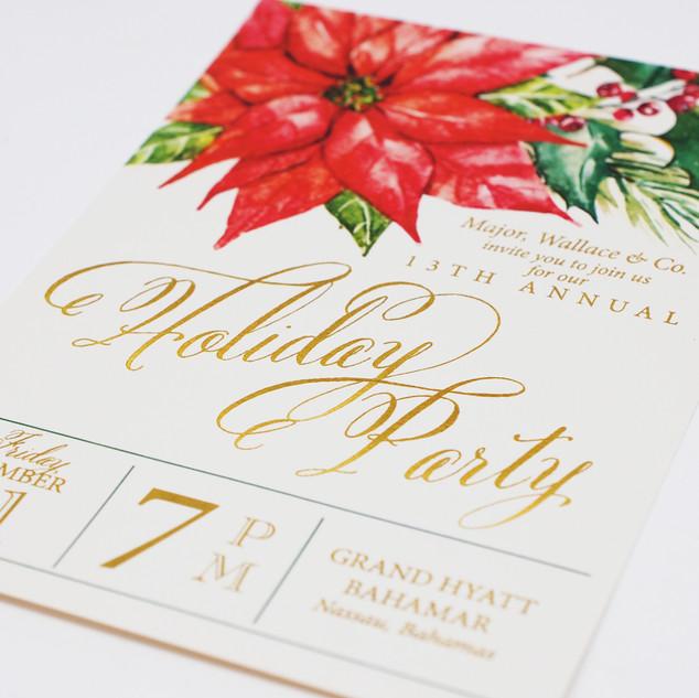 Metallic Cardstock Invitation
