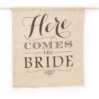 Rustic Here Comes the Bride - Sign