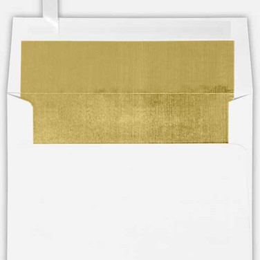 Gold Foil Lined Envelope