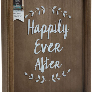 Happily Ever After Guest Book Wood Drop Box