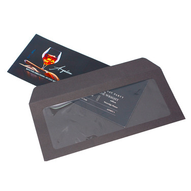 #10 Black Window Envelope