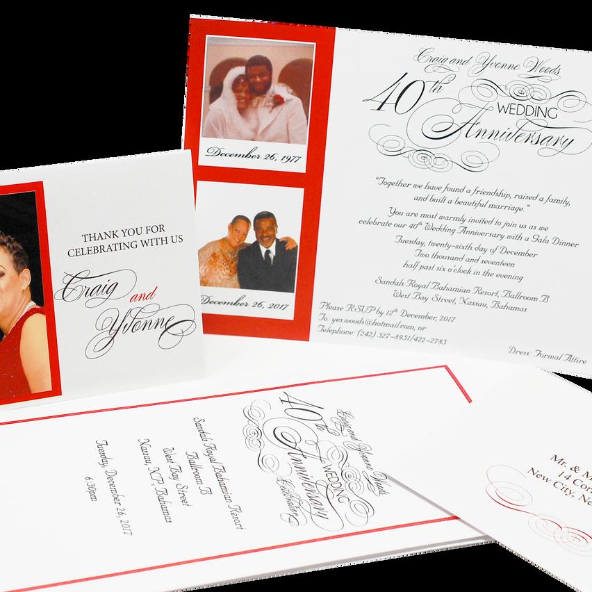 Wedding Anniversary Stationery