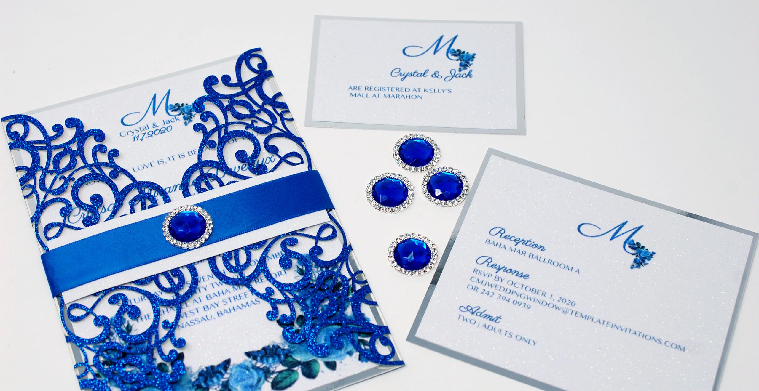 Beautiful Blue, Silver & White Ensemble
