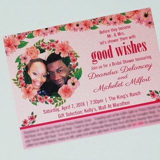 Deandra Bridal Shower Invite