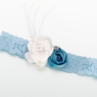 Vintage Lace Blue & White Garter