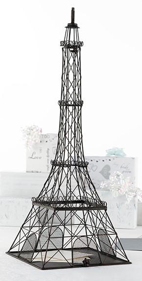 Metal Eiffel Tower Cardbox