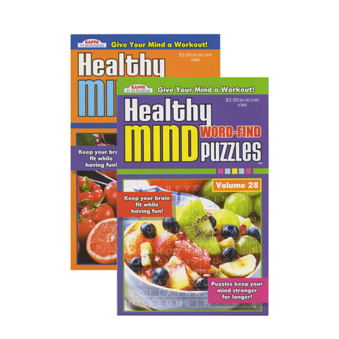 Healthy Minds Word Puzzle Book