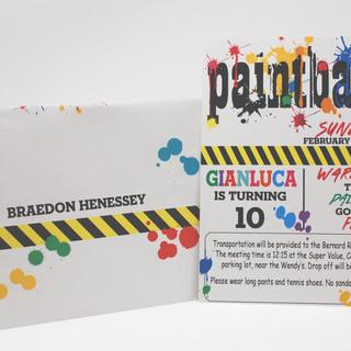 Paintball Theme Invite