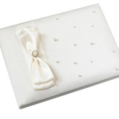 Ivory Scattered Pearl Guest Book