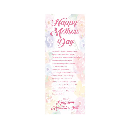 Set of 50 Personalized Bookmarks
