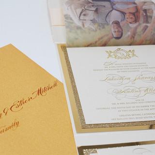 Gold Foil Invitation - The Delancys