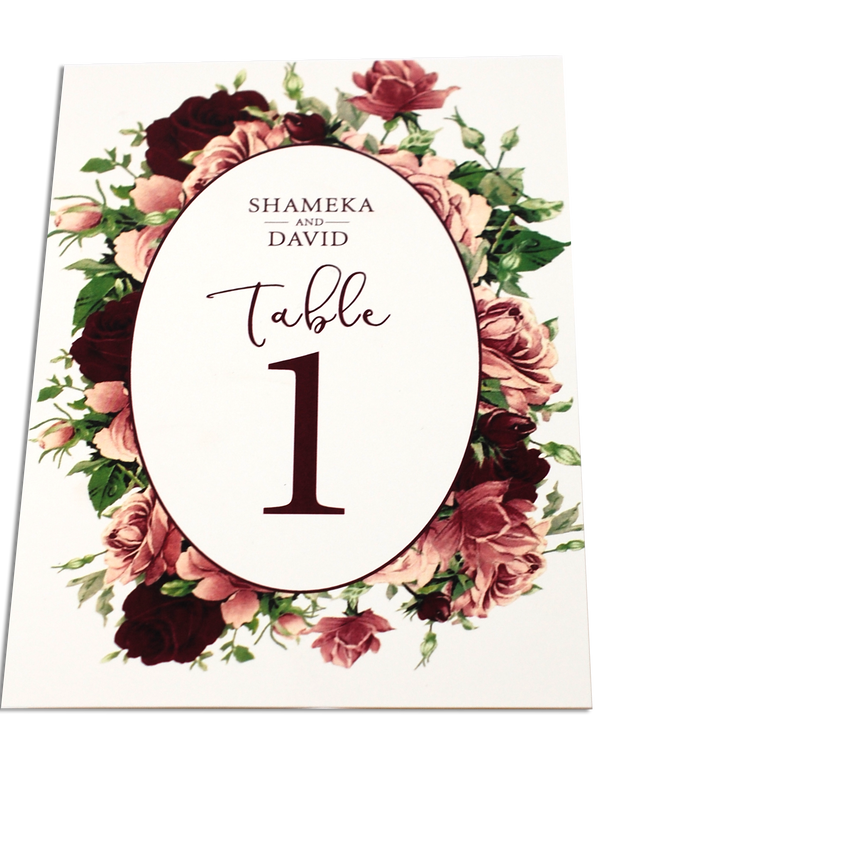 Matching Table Card