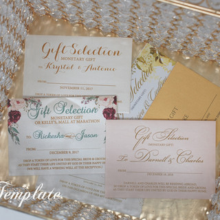 Gift Boxes available for your monetary envelopes