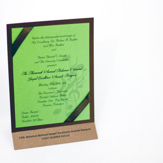 Tiered Invitation with Tear Off Ticket