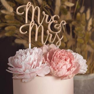 Gold Mr. & Mrs. Wedding Cake Topper