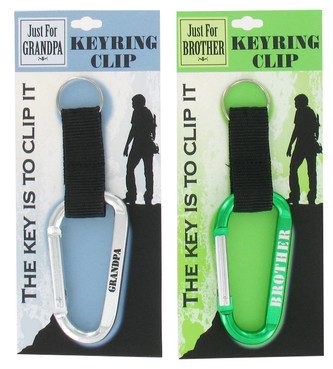 Carabineer Key Ring Clip