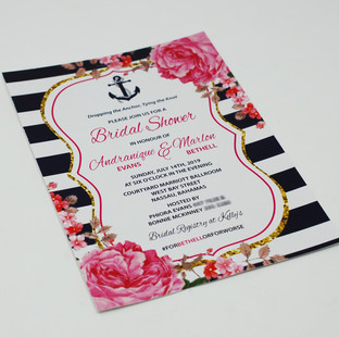 Andranique Bridal Shower Invite