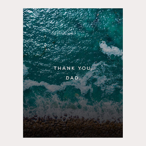 Oceans of Gratitude Father's Day Card