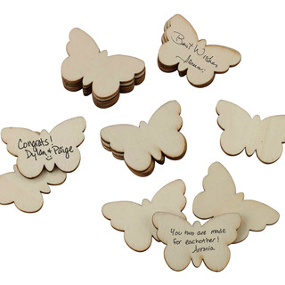 Guest Signing Buttlerfly Tags