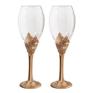 Gold Wine Glass Set