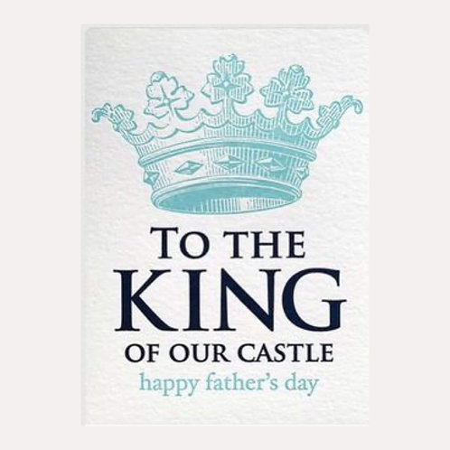 King of the Castle Father's Day Card