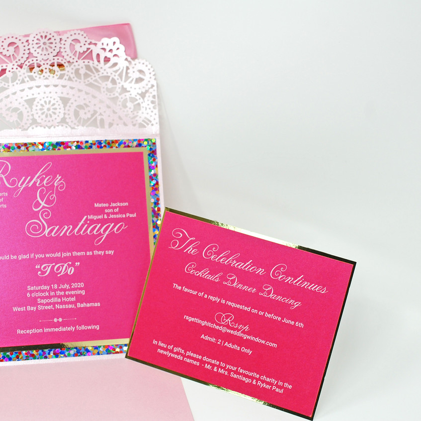 An invitation set fit for a Queen!